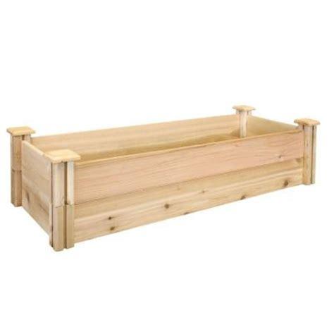 greenes raised beds greenes fence 16 in x 48 in x 11 in premium cedar raised garden bed rc164812p the