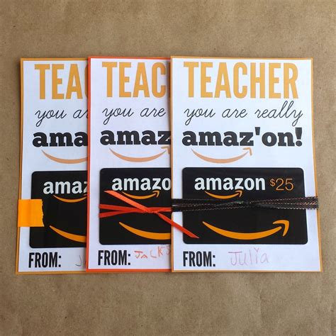 Amazon Gift Card Printable For Teacher - 15 christmas gifts teachers will treasure