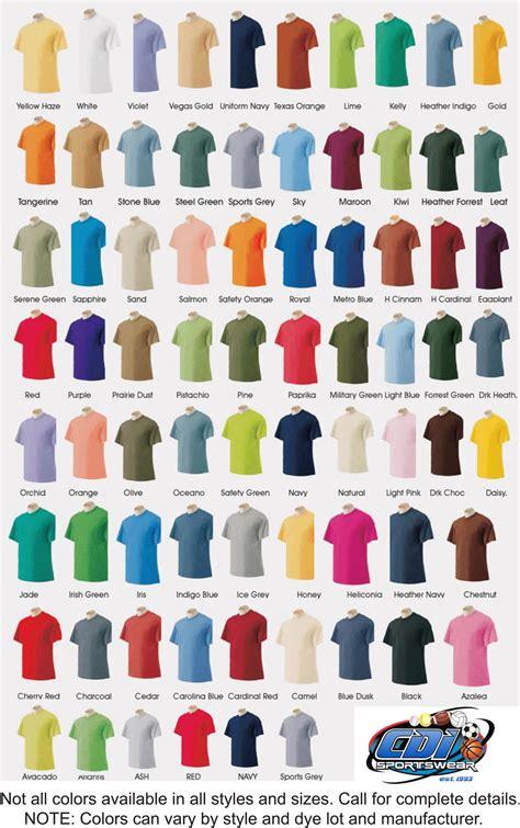 class colors shirt colors cdi