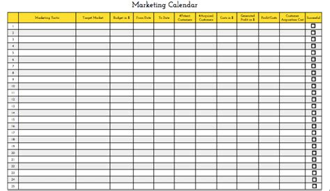 Marketing Calendar Template Playbestonlinegames Merchandising Calendar Template