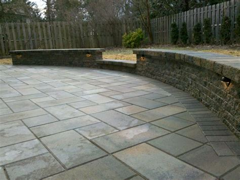 concrete patio pavers wall around top of driveway home paver patio
