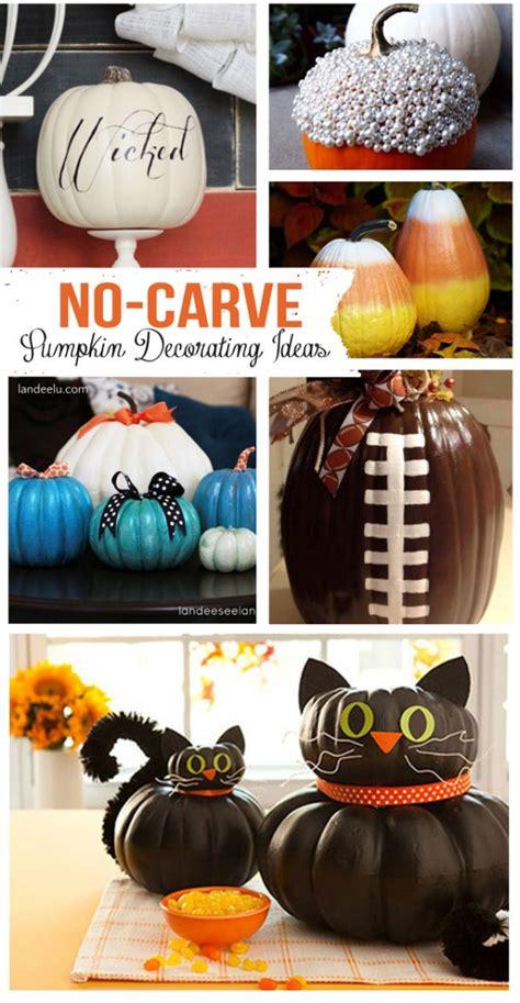 No Carve Pumpkin Decorating Designs by No Carve Pumpkin Decorating Ideas Landeelu