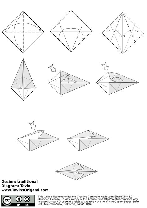 Origami Fishing Pole - index of diagram