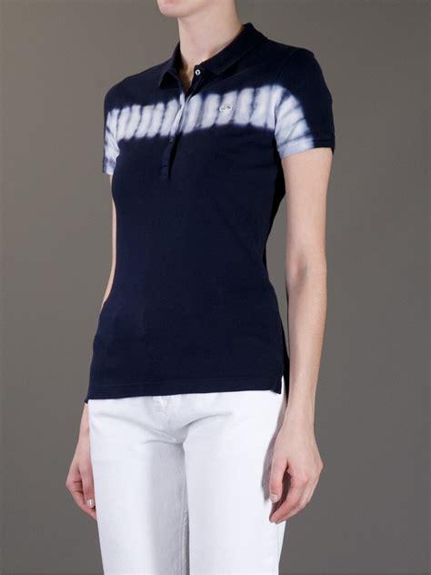 lacoste l ive tie dye polo shirt in blue lyst