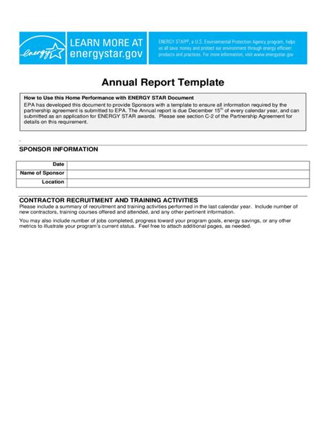 Legion Of Annual Report Template Standard Annual Report Template Free