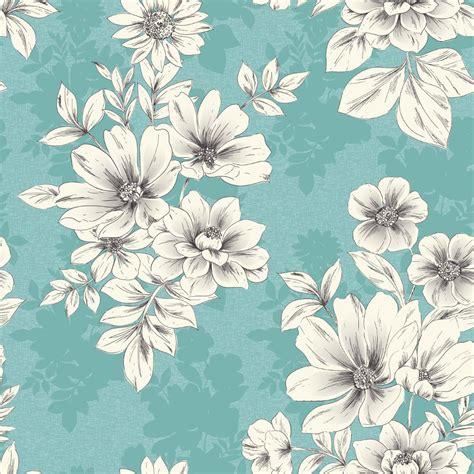 Square Flowy Motif 4 new rasch tivoli flower pattern floral square motif metallic textured wallpaper