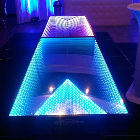 infinity glow led beer pong table petagadget
