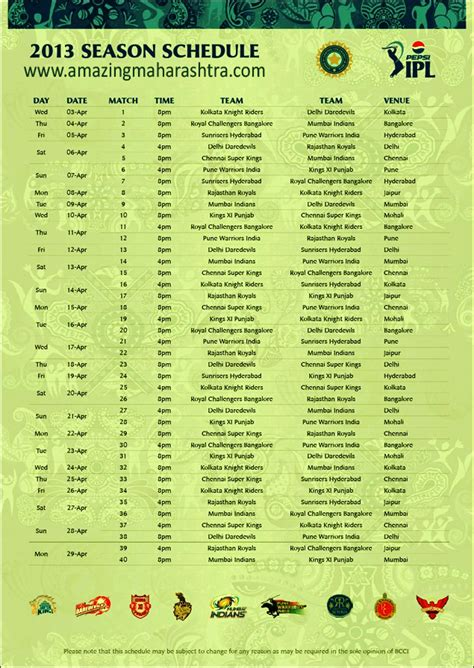 new ipl mach list ipl 2014 match schedule fixtures time table pdf free