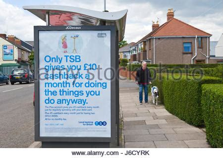 tsb bank scotland shelter advertising tsb bank in city centre on princes