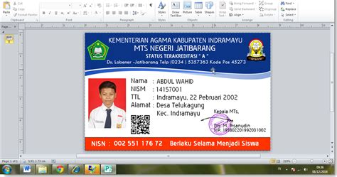 tutorial membuat id card dengan photoshop membuat id card dengan microsoft office publisher