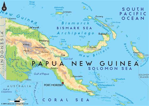 papua new guinea road map of papua new guinea and papua new guinea road maps