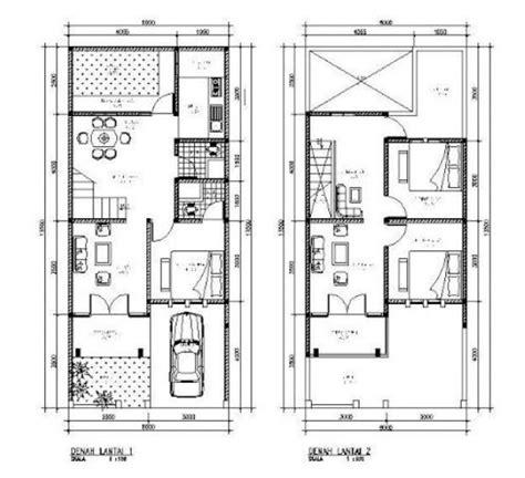 denah rumah minimalis  lantai type  ideas   house pinterest