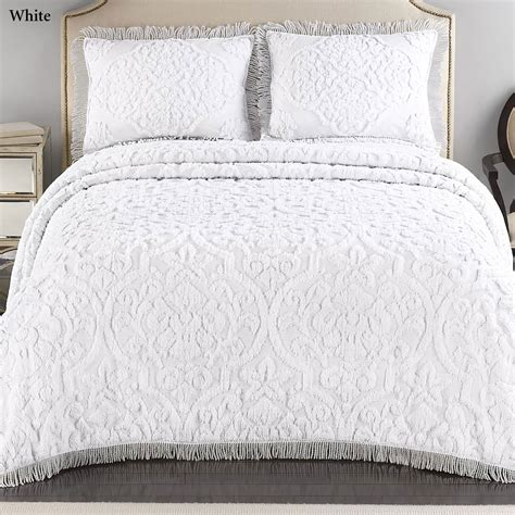 chenille comforters layla tufted brocade chenille bedspread bedding