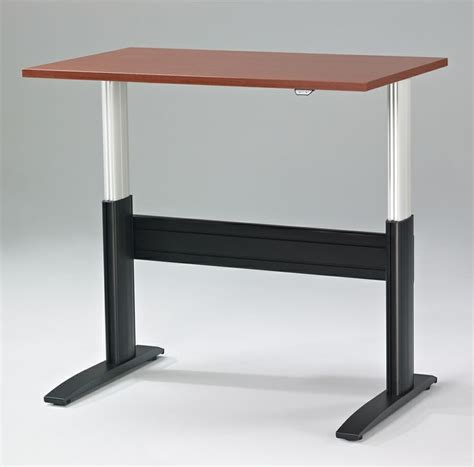 Electric Sit To Stand Desk The Newheights Electric Sit To Stand Desk W Push Button Height Adjustment Ra 24xxnhwtf
