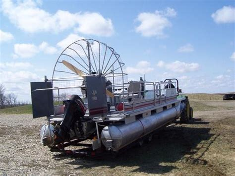fan boat on ice air boat pontoon 24 custom built two engines gt stanley nd