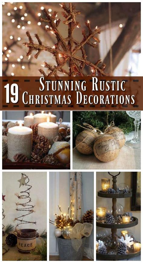 best 25 rustic christmas decorations ideas on pinterest