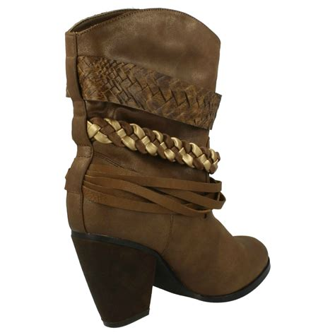 slouch high heel boots spot on high heel slouch cowboy boots ebay