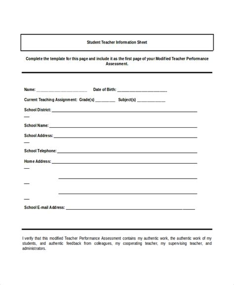 information sheet template 6 free pdf documents download