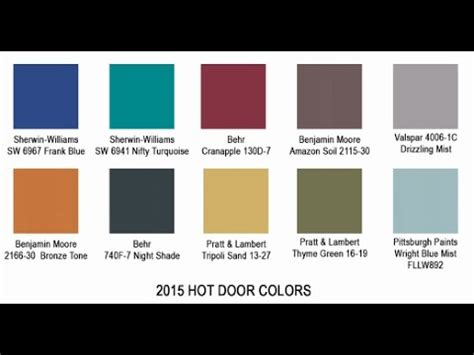 bold color schemes 2015 bold door colors youtube