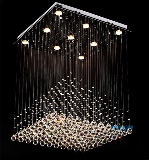 Crystal Ball For Chandelier Modern Clear Square Crystal Chandelier Pyramid Rain Drop