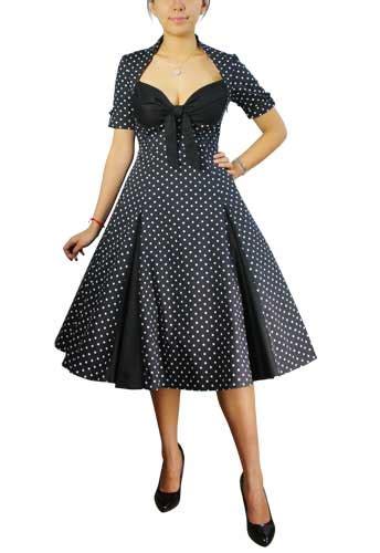 Swing Sommerkleider by Plus Size Polkadot Swing Dress