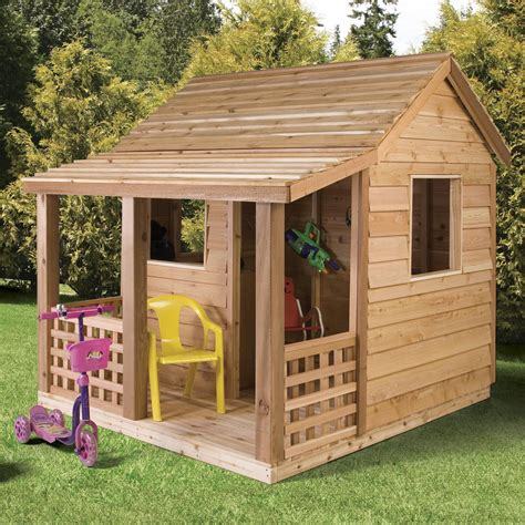 Shed Playhouse Plans by Cedar Shed Cabin Cedar Playhouse Outdoor Playhouses At