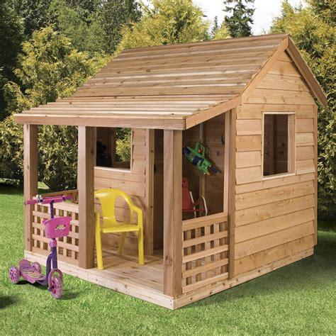 Cedar Shed Cabin Cedar Playhouse   Outdoor Playhouses at
