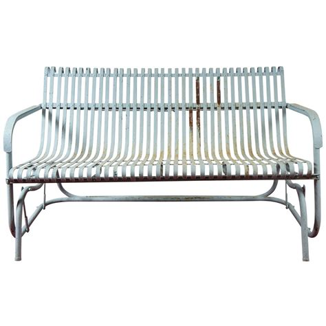 vintage metal glider bench old fashioned metal glider at 1stdibs