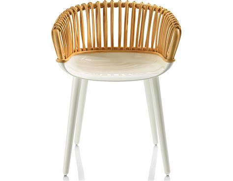 Platner Chair Magis Cyborg Club Armchair With Wicker Back Hivemodern Com