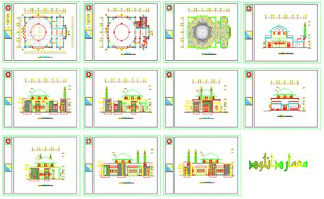 the layout and features of a mosque mosque layout design