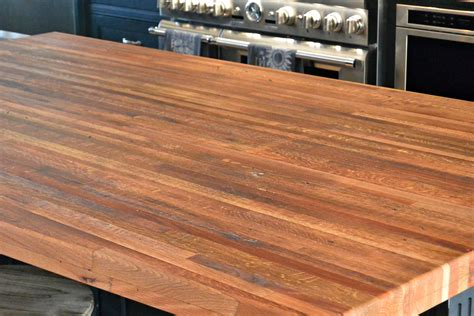 Wood Flooring For Countertops by Reclaimed Boxcar Flooring Wood Countertop Photo Gallery