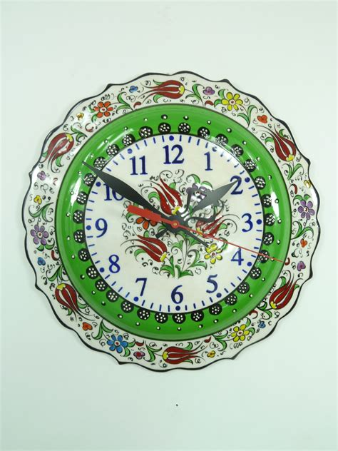 Colorful Clock Green green colorful painted wall clock