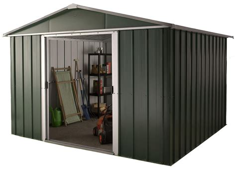 hercules deluxe apex metal shed and floor frame 10 x 13ft