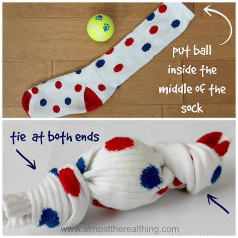 sock chew toys diy toys almost the real thing