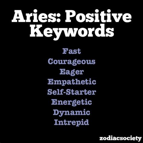 aries traits astrology pinterest