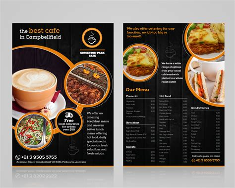 cafe flyer layout elegant playful cafe flyer design for somerton park cafe