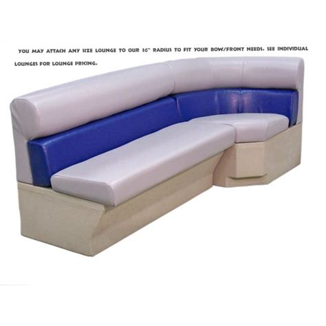 pontoon boat lounge seats 36 inch bow big sweep pontoon lounge