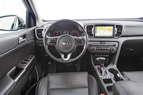 kia sportage interior 2017 kia sportage shows its interior ahead of frankfurt