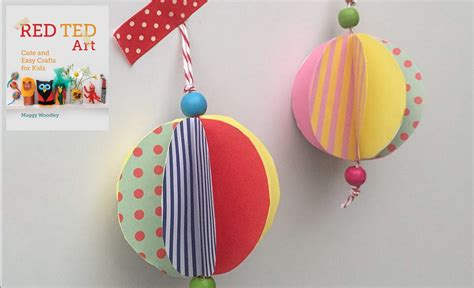 How To Make A Paper Bauble - get crafty baubles ted s