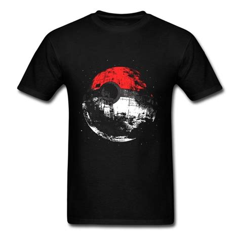 Design A Pokemon Shirt   fashion 2016 design death star pokeball t shirt men s