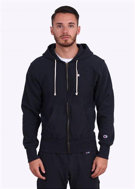 Hoodie Zipper Logo Ibm Navy chion weave zip logo hoodie navy blue