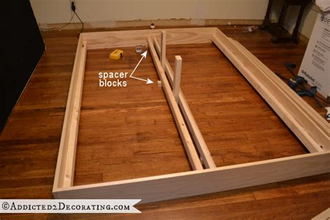 how to make a wood bed frame diy stained wood raised platform bed frame part 1