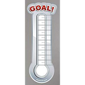 Pin Blank Goal Thermometer Printable Fundraising Charts Tattoo Pictures On Pinterest Sales Thermometer Template