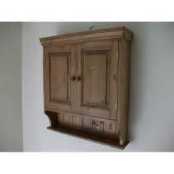 Antique Pine Bathroom Cabinets - 2 door pine wall cabinet w65cm