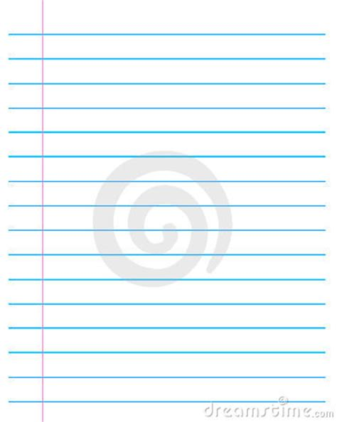 ruled paper lined page stock images image
