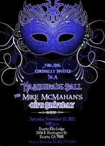 masquerade custom designed invitation masculine any color s