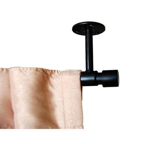 Verona ceiling mount curtain rod black walmart com