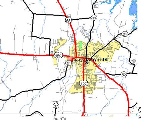 ky map danville 40422 zip code danville kentucky profile homes