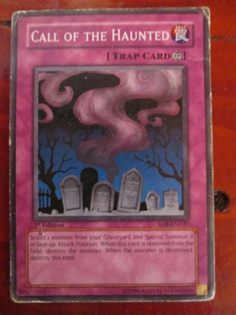 Yugioh Call Of The Haunted Original trading cards yu gi oh call of the haunted played card was listed for r18 00 on 14 may at 19