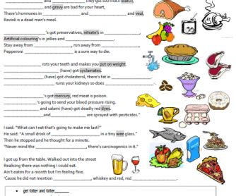 activity 3 carbohydrates puzzle answers song worksheet the food blues by the corries